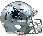 Roger Staubach & Tony Dorsett Autographed Dallas Cowboys Authentic Full Size Helmet