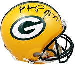 Brett Favre & Aaron Rodgers Autographed Green Bay Packers Full Size Helmet