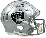 Josh Jacobs Autographed Las Vegas Raiders Full Size Speed Helmet Inscribed 2019 1st Rd Pick