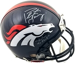 Peyton Manning Autographed Denver Broncos Authentic Helmet Inscribed Refuse to Fail