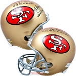 Montana, Rice, Young Autographed San Francisco 49ers Helmet SB MVP Inscriptions