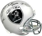 Staubach, Allen, Plunkett, Howard Autographed SB MVPs / Heisman Winners Helmet