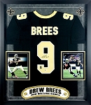 Drew Brees Autographed New Orleans Saints Jersey Framed