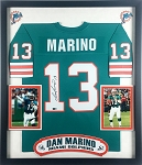 Dan Marino Autographed Miami Dolphins Jersey Framed