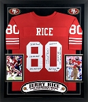 Jerry Rice Autographed Inscribed San Francisco 49ers Jersey - Limited Edition of 5
