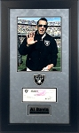 Al Davis Autographed Raiders Check Framed