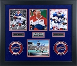 Jim Kelly, Marv Levy, Andre Reed & Thurman Thomas Autographed Bills 8x10 Photos Framed
