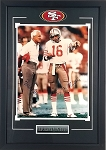 Joe Montana & Bill Walsh Autographed Framed San Francisco 49ers 16x20 Photo