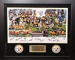 Pittsburgh Steelers 1970s Team of the Decade Autographed Commemorative Lithograph Framed