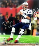 Tom Brady Autographed New England Patriots 20x24 Photo Inscribed 5x SB Champ