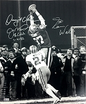 Joe Montana, Dwight Clark & Everson Walls Autographed 49ers 16x20 Photo Inscribed 'The Catch'