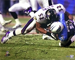 Ray Lewis Autographed Baltimore Ravens 16x20 Photo Inscribed