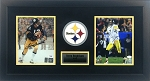 Terry Bradshaw & Ben Roethlisberger Autographed Pittsburgh Steelers 8x10 Photos Framed