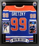 Wayne Gretzky Autographed Edmonton Oilers Jersey Framed