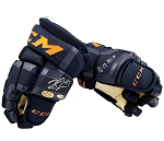 Connor McDavid Autographed CCM Hockey Gloves Inscribed 16-17 MVP