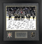 Vegas Golden Knights Team Autographed Framed 16x20 Photo Limited Edition
