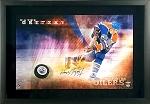 Wayne Gretzky Autographed Edmonton Oilers Slapshot 16x24 Photo Framed
