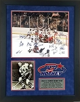 1980 USA Hockey Team Autographed 16x20 Photo Framed with Herb Brooks Photo