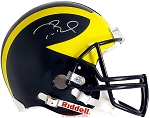 Tom Brady Autographed Michigan Wolverines Full Size Helmet Inscribed Go Blue