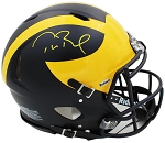 Tom Brady Autographed Michigan Wolverines Full Size Authentic Proline Helmet