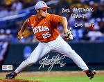 Huston Street Autographed Texas Longhorns 8x10 Photo Inscribed 2002 National Champs, CWS MVP