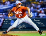 Huston Street Autographed Texas Longhorns 16x20 Photo Inscribed with Stats