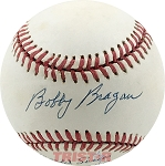 Bobby Bragan Autographed Official NL Baseball Inscribed World Series B.A. 1000