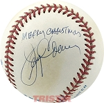 Jerry Coleman Autographed Official AL Baseball Inscribed Merry Christmas