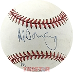 Al Downing Autographed Official AL Baseball Inscribed Merry Christmas