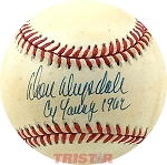 Don Drysdale Autographed Official NL Baseball Inscribed Cy Young 1962