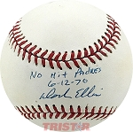 Dock Ellis Autographed Official NL Baseball Inscribed No Hit Padres 6-12-70