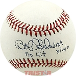 Bob Gibson Autographed Official National League Baseball Inscribed No Hit 8-14-71