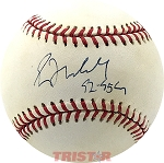 Greg Maddux Autographed Official NL Baseball Inscribed 92-95 Cy