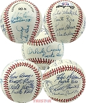 Puerto Rico Players Autographed Official NL Baseball 9 Signatures - Cepeda, Alomar, Clemente Jr & More