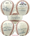 National League MVPs Autographed Official NL Baseball 12 Signatures - Banks, Musial & More