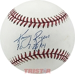 Kenny Rogers Autographed Official AL Baseball Inscribed PG 7-28-94