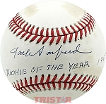 Jack Sanford Autographed NL Baseball Inscribed NL Rookie of the Year 1967