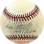 Rick Sutcliffe Autographed Official NL Baseball Inscribed 1979 ROYear