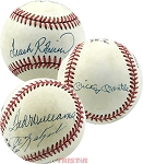 Triple Crown Winners Autographed Official NL Baseball 4 Signatures - Mantle, Williams, Yaztrzemski & Robinson