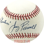Jimmy Piersall Autographed Official AL Baseball Inscribed Merry Christmas
