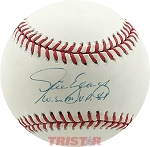 Steve Yeager Autographed Official NL Baseball Inscribed WS MVP 81