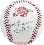 Tom Lasorda & Kirk Gibson Autographed Official 1988 World Series Baseball