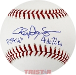 Roger Clemens Autographed Official ML Baseball Inscribed 354 W's / 4672 K's