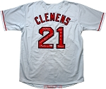Roger Clemens Autographed Boston Red Sox Custom Jersey Inscribed Only Player to K 20 Twice