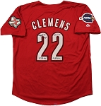 Roger Clemens Autographed Houston Astros 05 WS Jersey Inscribed Cy 7, Rocket, 354 W/4672 K