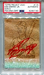 Ken Griffey Jr. Autographed Topps Project 2020 Card #116 Inscribed 24 - Red 1/1