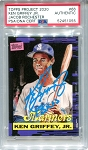 Ken Griffey Jr. Autographed Topps Project 2020 Card #66 Inscribed 13x AS - Blue 1/1