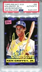 Ken Griffey Jr. Autographed Topps Project 2020 Card #66 Inscribed 13x AS - Yellow 1/1