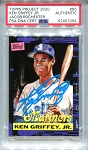 Ken Griffey Jr. Autographed Topps Project 2020 Card #66 Inscribed 24 - Blue 1/1