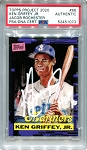 Ken Griffey Jr. Autographed Topps Project 2020 Card #66 Inscribed HOF 16 - White 1/1